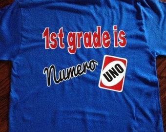 Numero uno teacher shirts
