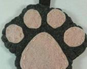 Paw print keychain pink, dog paw, paw print, keychain, i love dogs keychain, animal print, dog