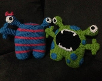 Bonnie and Clyde - Crochet Monster Pattern Instructions