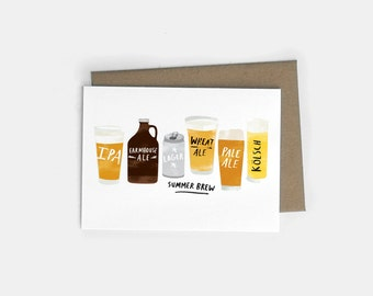 Summer Beer A6 Greeting Card