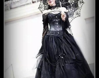 Black Tulle ballgown,skirt Limited edition Hand made Sizes S-2XL