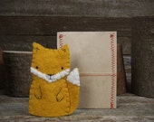 hand-stitched wool felt finger puppet: fox by kata golda