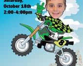 Dirt Bike Birthday Party Invitation - Personalized with your photo DIGITAL FILE