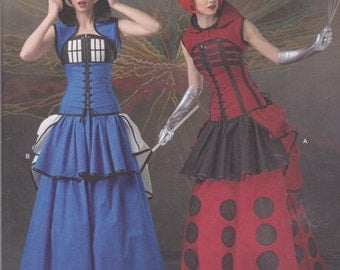 Simplicity Pattern 1095 LoriAnn Costume Designs Dr. Who Themed Costumes Misses' Sizes 6 - 14