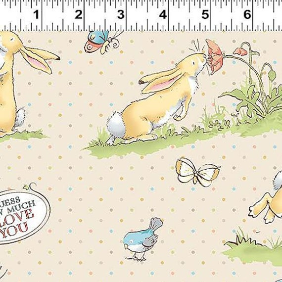 Guess How Much I Love You Fabric By Clothworks Cute Bunnies
