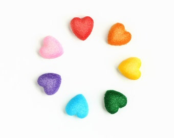Little Heart Sugar Decorations Rainbow Cupcake Toppers Cake