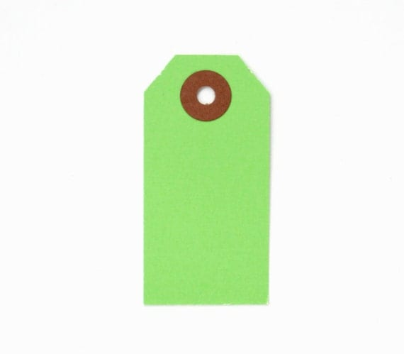 25 Green Little Parcel Tags, Green Gift Tags, Christmas Gift Tags, Holiday Gift Tags