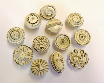FREE SHIPPING Drawer Pulls Knobs Collection 12 Distressed Shabby Cottage Chic Off White