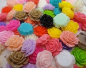 30pcs 15mmx15mm assorted colors resin/plastic flower charm