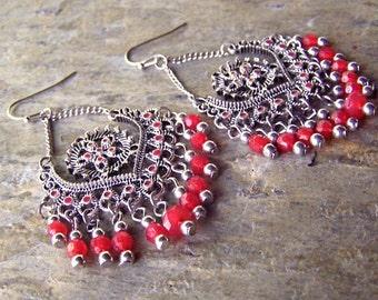 Chandelier Earrings - Bohemian Earrings - Dangly Earrings - Boho Chic Jewelry - Shabby Chic Earrings - Boho Earrings