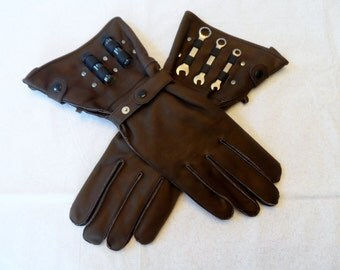 Mechanic's Gloves - Brown S