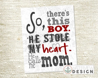 INSTANT DOWNLOAD // this boy stole my heart // diy printable