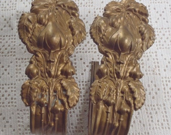 Vintage Drapery Holders Brass Tiebacks