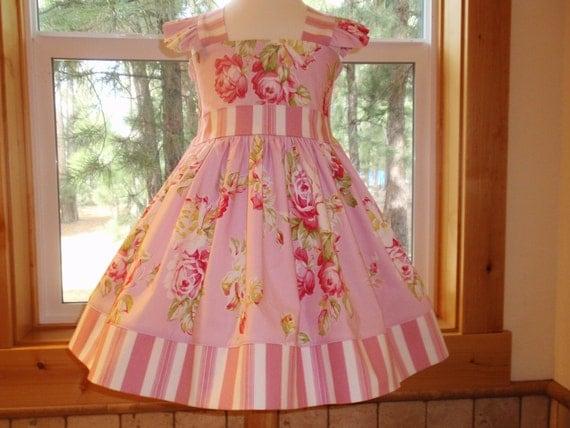 Girls Easter Dress Toddler Easter Dress Pink Floral Dress