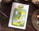 Terrarium Fungi - original illustration -  archival art print