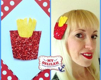 French Fries Hair Clip Fast Food Junk Food