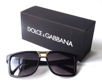 dolce & gabbana designer sunglass box gift storage black white supplies for sunglasses accessories jewelry store him her medium rectangular