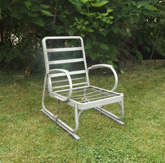 Cushions For Vintage Metal Lawn Chairs picture on vintage 1940s aluminum glider lawn chair with Cushions For Vintage Metal Lawn Chairs, sofa 804ab678a77246d676cf8901b63fbfd2