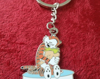 "SCI Calvin and Hobbes ""The Love the we give becomes the love that we get"" Keychain"