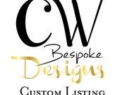 Custom Listing for Krista - Tulum Mexico October 24, 2015