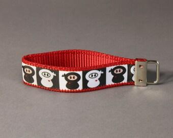 Ninjas Wristlet Keychain