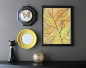 3 pc. wall art collage -  Vintage Yellow - a 3 piece arrangement -  wall gallery - home decor