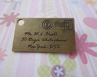 10pcs antique bronze envelope findings 40mmx24mm
