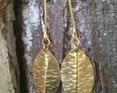 Leaf Simple Dangles Brass Leafs