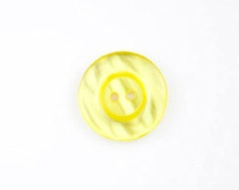 "Riley Blake Sew Together buttons -yellow round 1"" buttons - 4 pack"