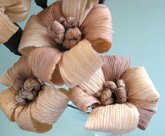 Corn husk dried flower decor artificial flower brown flower for Dried flowers craft supplies
