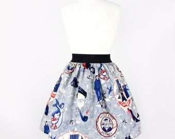 Sailor Jerry  Rockabilly  Nautical Pleated Skirt ON SALE !!!!