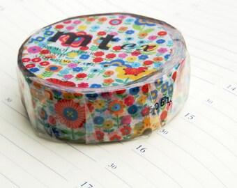 washi tape Mt  Ex flower garden 15m x 10M Spring 2015 washi masking tape