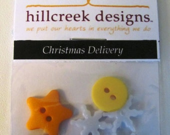 Christmas Delivery Button Pack from Hillcreek Designs B243-QDD