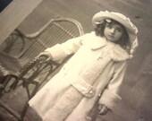 Victorian Sepia Photograph of Little Girl by K. Boehringer - Hofphotograph Athen - Athens, Greece Cabinet Card Photograph -
