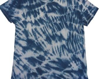 Navy and white shibori t-shirt
