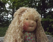"""Waldorf Doll Girl, Handmade Waldorf Doll, Cloth Doll, Rag Doll, 16"""" Doll, Cotton and Wool Doll, Doll for Boys and Girls Active"""