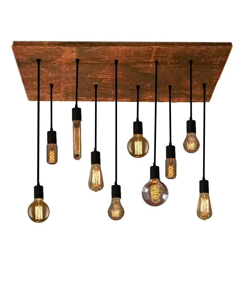 10 edison bulb industrial chandelier pendant by hangoutlighting. Black Bedroom Furniture Sets. Home Design Ideas