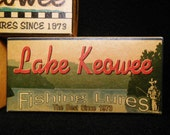 Lake Keowee South Carolina lake house fishing lure boxes decor