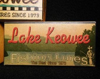 lake house decor Lake Keowee South Carolina fishing lure boxes