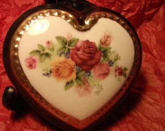 Handpainted Heart-shaped Box