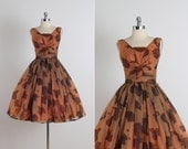 Laurette . vintage 1950s dress . vintage cocktail dress . 4754