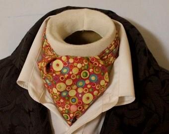 Pure Cotton - Colorful Polka Dot - DAY Cravat Victorian Ascot Tie Cravat