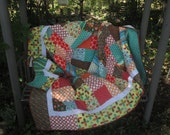 Patchwork Quilt, Double Size Quilt, Quilted Bedspread, Colorful Quilt, Quilted Blanket, Handmade, Traditional Quilt, Bohemian Quilt, Boho