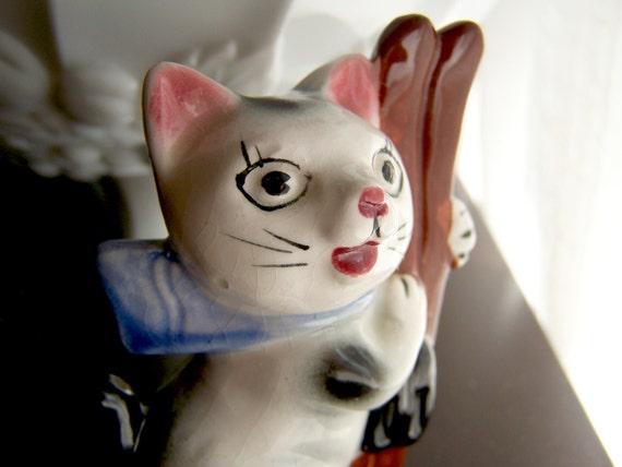 Black Cat Figurine eBay