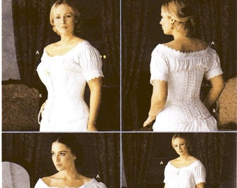 SZ 6/8/10/12 - Simplicity Costume Pattern 7215 - Misses' Chemise and Corset - Martha McCain