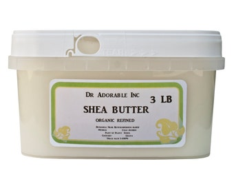 3 lb Refined Shea Butter White From Ghana 100% Pure Organic Natural