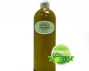 16 Oz Avocado Oil Unrefined Extra Virgin Cold Pressed Pure & Organic