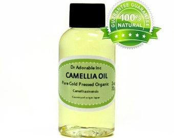 2 oz Camellia Oil Pure Organic Cold Pressed Tea Tree seed oil