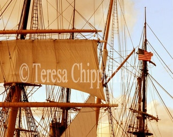 Nautical Photography, Ship Photo Print, Sail Boat Wall Decor, Full Speed Ahead, 8x10,11x14,16x20, Ocean Ship Star of India HistoricTravel,