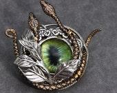 Snake Necklace Serpent Necklace Mens Snake Pendant Unisex Snake Eye